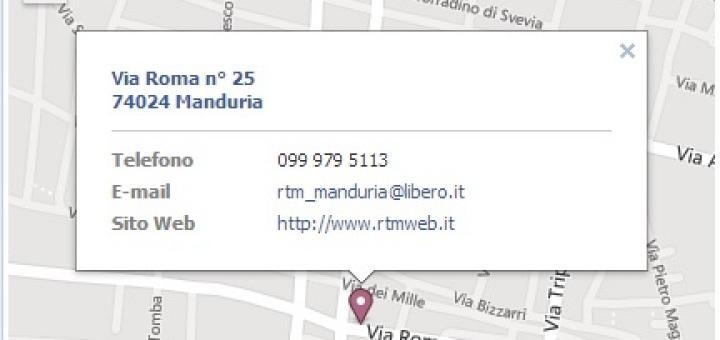 Mappa posizione RTM