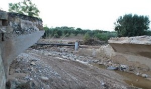 ponte crollato Ginosa