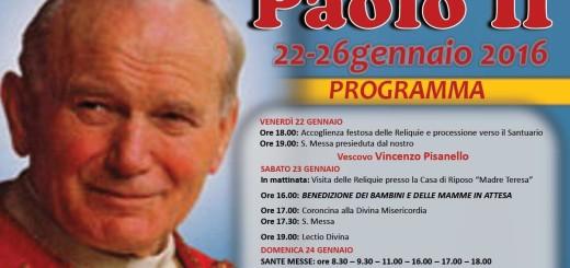 reliquie di S. Giovanni Paolo II