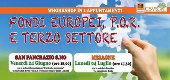 workshop Fondi europei