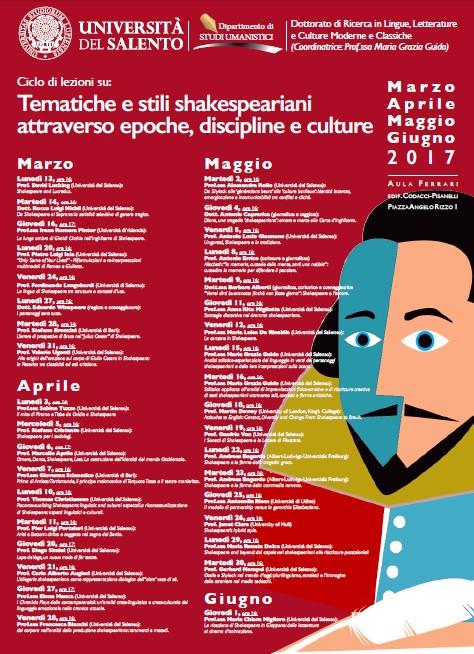Calendario Unisa.Lecce Tematiche E Stili Shakespeariani Attraverso Epoche
